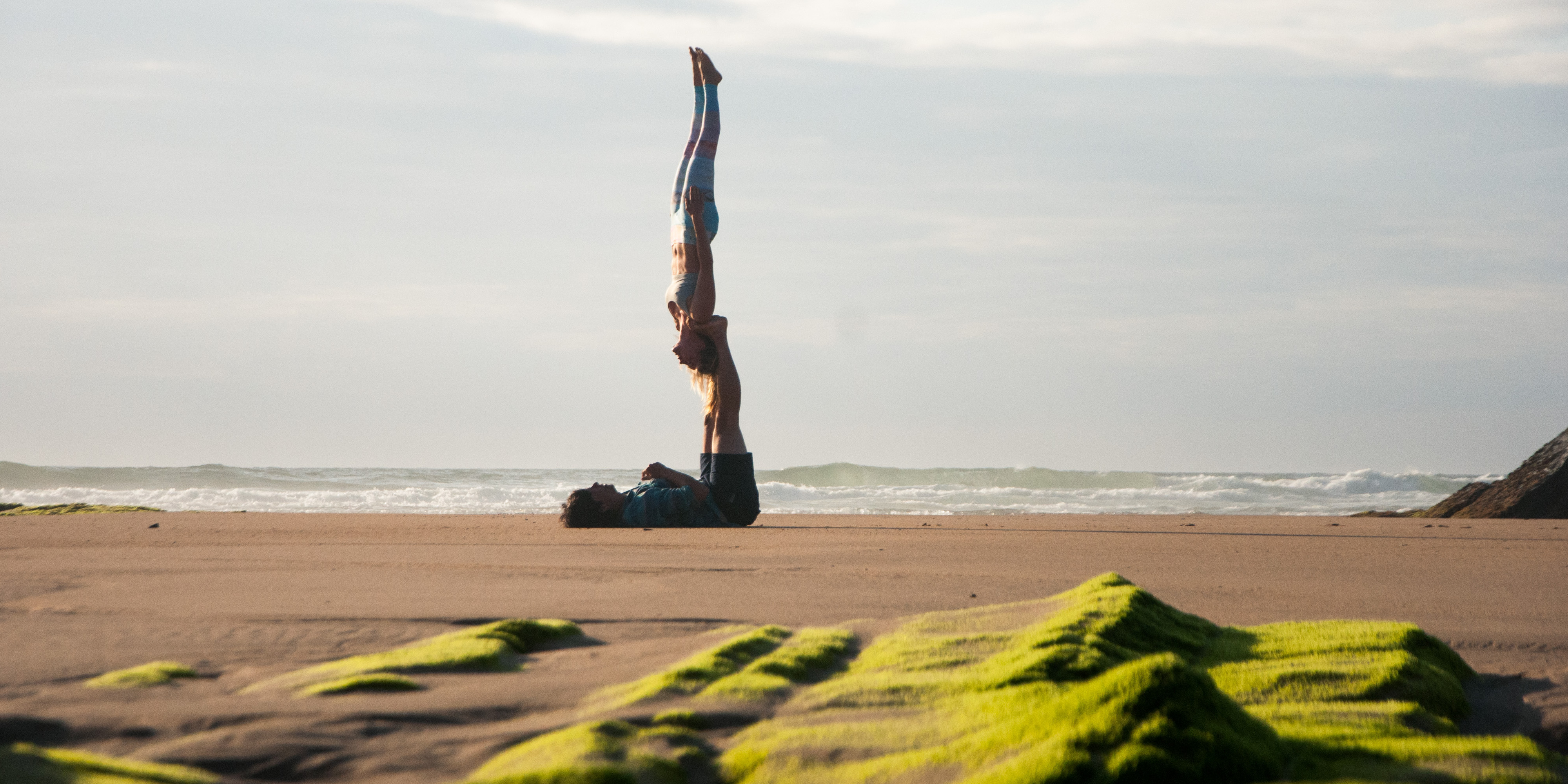 Acroyoga Star and needle on portugal by acrolama